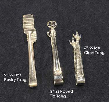 "Serving Tongs Stainless Steel - 9"" Pastry Tong"