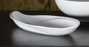 "White Melamine Bowl - 16"" 20"" Leaf Bowl"