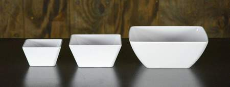 "White Square Melamine Bowl - 10"" Bowl"