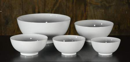"White Ceramic Serving Bowl - 16"" Round"