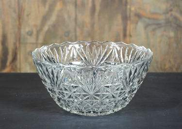 Punch Bowl Crystal Vintage 5qt