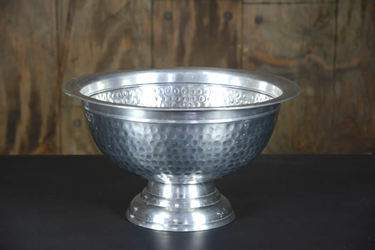 Punch Bowl Hammered Stainless Steel 8qt