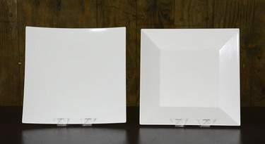 "White Square Melamine Platters - 16"" Square Sushi"