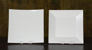 "White Square Melamine Platters - 16"" Square"