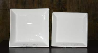 "Square White Platters - 16"" Square"