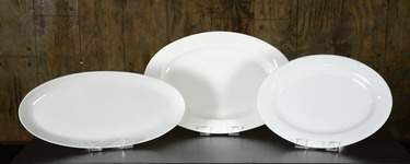 "Oval White Platters - 13""x18"" Oval"