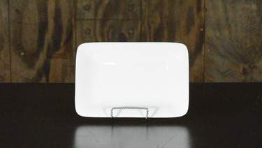 "Rectangular White 9""x6"" Platter"