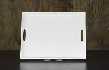 Rectangular White Platter w/ Handles