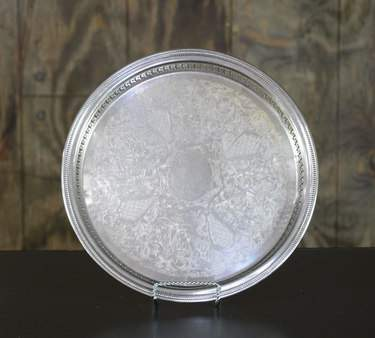 Silver Round Gallery Tray 13""