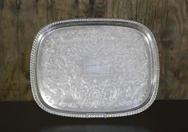 "Silver Rectangular Gallery Tray 18""x24"""