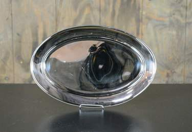 "Oval Stainless Tray 12""x18"""