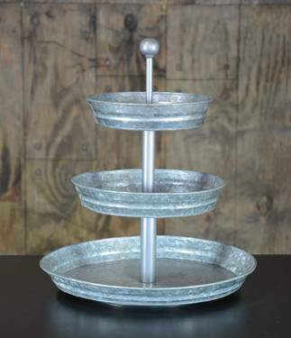 Three Tiered Galvanized Tray