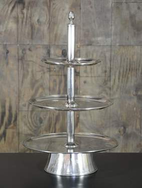 Three Tiered Silver Tray
