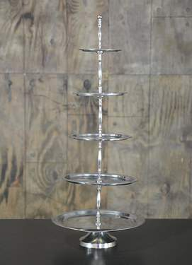 Five Tiered Silver Tray