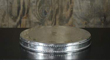 "Round Silver Cake Riser 19"""
