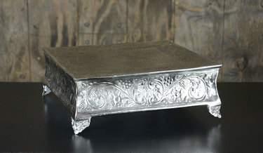 """Square Silver Cake Riser 18"""""""