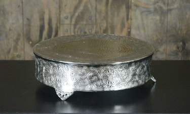Round Footed Silver Cake Riser 20""