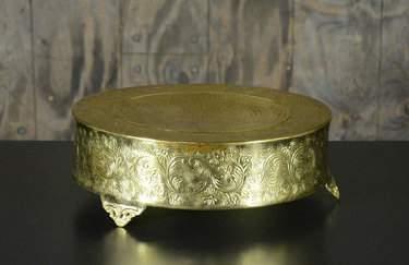 "Round Gold Cake Riser 18"""