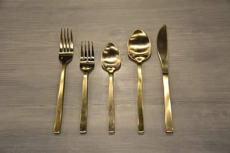 Brushed Gold Salad Fork