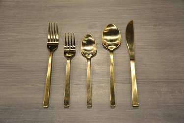 Brushed Gold Dessert Spoon