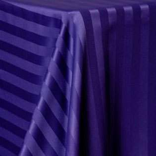 Poly Satin Stripe Purple