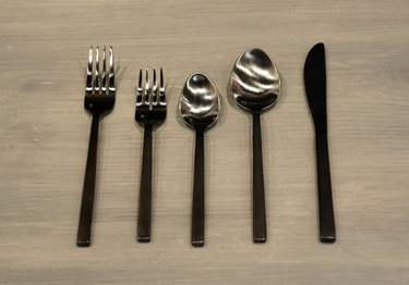Brushed Black Flatware