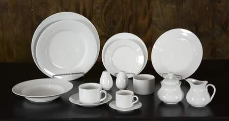 White China - Dinner Plate