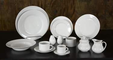 White China - Luncheon Plate