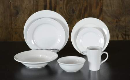 White Stoneware - Soup Bowl