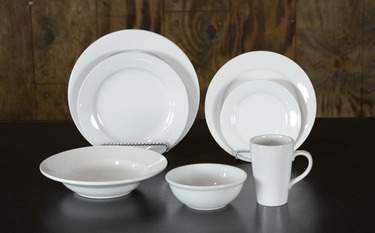 White Stoneware - Dinner Plate
