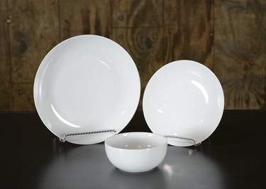 Coupe White China - Dinner Plate
