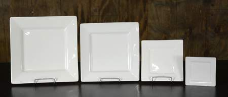 Square White Dishware