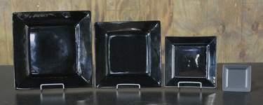 Square Black Dishware