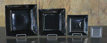 Square Black Dishware - Dinner Plate