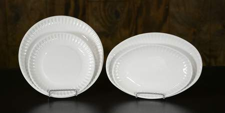 Picnic White Dishware - Dinner Plate Oval