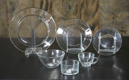 Clear Glass Dishware - Dinner Plate