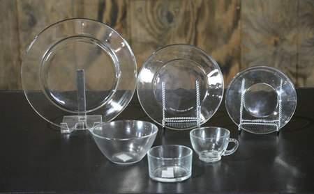 Clear Glass Dishware - Salad Plate