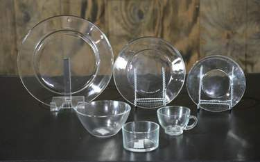 Clear Glass Dishware - Salad Plate