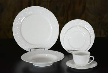 Abigail White China - B&B Plate