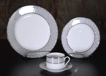 Marcella Platinum China - Dinner Plate