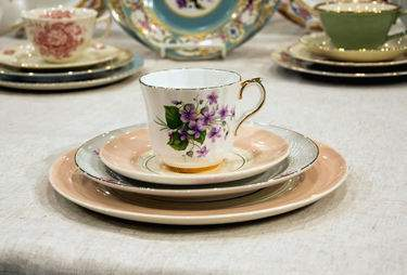 Queen Ann's China - Saucer
