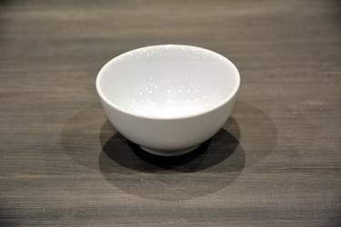 White Ceramic Amuse-Bouche Plates - Rice Bowl