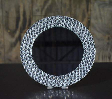 "13"" Diamond Mirror Charger"