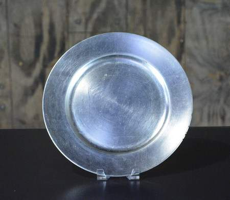 "13"" Silver Leaf Charger"