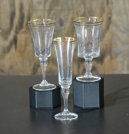 Gold Rim 7oz Champagne Flute