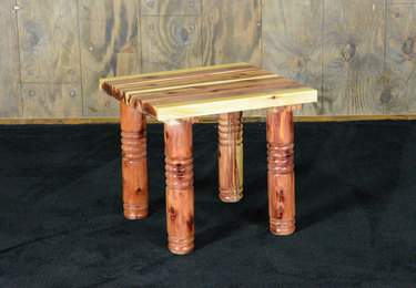 Cedar Post Side Table