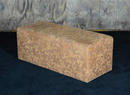 2'x4' Rust Tooled Ottoman
