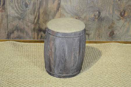 Wine Barrel Pouf