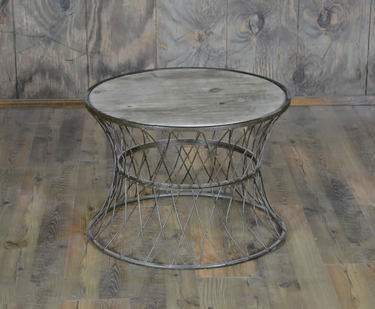 Rusted Round Side Table