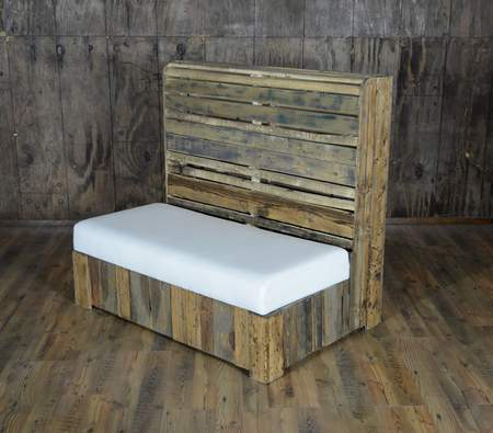 Pallet Wood Loveseat Banquette Rental Furniture For